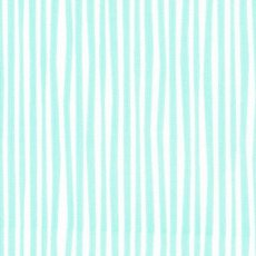 Simpatico Straws Minty  Simpatico straws is a funky irregular narrow stripe that forms part of the new 100 organic cotton collection by Michelle Engel Bencsko for Cloud 9 Fabrics. Please Click the image for more information.
