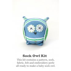 Craft Schmaft Mini Sock Owl Kit Blue &amp; Green