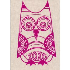 Bela Hoo Owl Purple on Flax Linen Craft Panel Bela Hoo is a clever owl hand screen printed in Australia by the talented duo cat  vee Bela Hoo is adorable framed or sewn into cushions quilts kids aprons bags purses ipad covers or soft toys Please Click the image for more information.