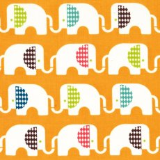 Safari Soiree Ele Train Orange Organic Cotton