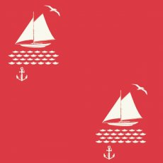 Set Sail into the Sunset Apple Red Organic Cotton