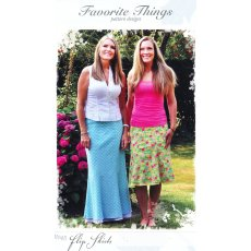 Favorite Things Flip Skirts Flip Skirts by Favorite Things is one skirt with 2 different looks and only 2 pattern pieces Simple 6 panel pull on skirt with elasticised bias cut waistband R. Please Click the image for more information.