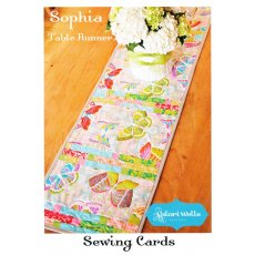 Valori Wells Sophia Table Runner Sewing Cards Sophia showcases your favourite larger scale fabrics The detail piecing is the perfect place to accent the colours in the print . Please Click the image for more information.