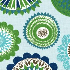 Siri Blue & Green Textured Linen Wide Width Siri fabric designed by Swedish designer Linda SjunnessonA beautiful contemporary scattered flower medallion design printed on a beautiful textured cottonlinen blend Siri lo. Please Click the image for more information.