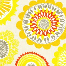 Siri Yellow Textured Linen Wide Width Siri fabric designed by Swedish designer Linda SjunnessonA beautiful contemporary scattered flower medallion design printed on a beautiful textured cottonlinen blend Siri lo. Please Click the image for more information.