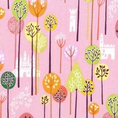 Alexander Henry Enchanted Forest Pink Alexander Henry Enchanted Forest childrens fabric with a sweetly illustrated magical forest with white castles in the background. Please Click the image for more information.