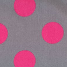 Candy Party Mega Dot Pink on Grey A fun large spot fabric for a funky project Please Click the image for more information.