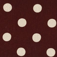 Echino Maruco Large Polka Chocolate Echino Maruco is an extra large polka dot design printed on a beautiful medium weight cottonlinen blend A. Please Click the image for more information.