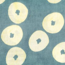 Muddy Works Doughnuts Blue Double Gauze Muddy Works Doughnuts by Tomotake is a gorgeous contemporary design printed on cotton double gauze Double gauze is  two layers of cotton gauze joined togther with invisible stitches making the fabric not too sheer and lovely and soft . Please Click the image for more information.