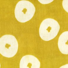 Muddy Works Doughnuts Mustard Double Gauze Muddy Works Doughnuts by Tomotake is a gorgeous contemporary design printed on cotton double gauze Double gauze is  two layers of cotton gauze joined togther with invisible stitches making the fabric not too sheer and lovely and soft . Please Click the image for more information.