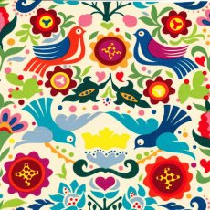 La Paloma Multi on Tea Laminate La Paloma laminate is a fabulous bird and floral design by Alexander Henry Laminate is popular for tablecloths placemats bags cosmetic bags bibs draw liners lunch bags etc and ca. Please Click the image for more information.