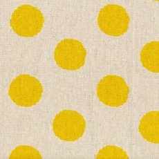 Hokkoh Spot Yellow Linen Blend Home decorating weight largerscale spot printed on a cottonlinen blend Suitable for lampshades cushions bags midweight skirts and many other craft and sewing projects. Please Click the image for more information.