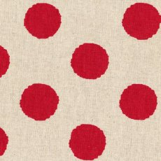 Hokkoh Spot Red Linen Blend Home decorating weight largerscale spot printed on a cottonlinen blend Suitable for lampshades cushions bags midweight skirts and many other craft and sewing projects. Please Click the image for more information.