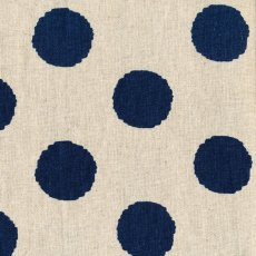 Hokkoh Spot Blue Linen Blend Home decorating weight largerscale spot printed on a cottonlinen blend Suitable for lampshades cushions bags midweight skirts and many other craft and sewing projects. Please Click the image for more information.