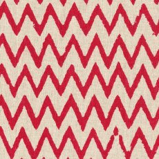 Hokkoh Chevron Red on Natural Linen Blend