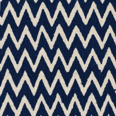 Hokkoh Chevron Blue on Natural Linen Blend