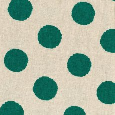 Hokkoh Spot Emerald Green Linen Blend Home decorating weight largerscale spot printed on a cottonlinen blend Suitable for lampshades cushions bags midweight skirts and many other craft and sewing projects. Please Click the image for more information.