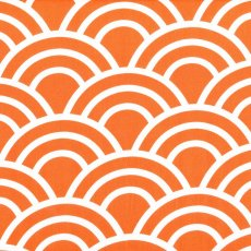 Bekko Swell Wide Width Tangerine Bekko Swell is a striking largerscale design printed on a lovely medium weight 100 cotton sateen Suitable for a variety of home decorating projects but also a lovely weight for linen quilting bag making and apparel. Please Click the image for more information.