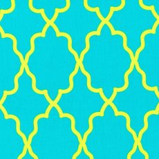 Moroccan Lattice Aqua This funky  contemporary Michael Miller Moroccan Lattice fabric design pops with colour and is perfect for quilting apparel and varied craft projects. Please Click the image for more information.