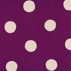 Echino Maruco Large Polka Purple Echino Maruco is an extra large polka dot design printed on a beautiful medium weight cottonlinen blend A. Please Click the image for more information.