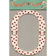 Candy Pops White &amp; Red Dots Bag Handle