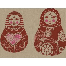 Kristen Doran Matryoshka Dolls Red & Pink on Natural Kristen Dorans fun and sophisticated limited edition matryoshka doll design is hand screen printed in Sydney Australia on a beautiful linencotton baseclothMatr. Please Click the image for more information.