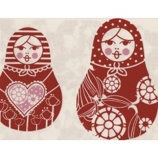 Kristen Doran Matryoshka Dolls Red & Pink on White Kristen Dorans beautiful and sophisticated limited edition matryoshka doll design is hand screen printed in Sydney Australia on a 100 cotton baseclothMatr. Please Click the image for more information.