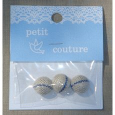 Petit Couture Blue Stripe Linen Buttons These sweet little Petit Couture linen buttons are from Japan and would flatter any outfit or alternatively use as bag closures or for embellishing an applique. Please Click the image for more information.