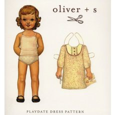 oliver + s playdate dress pattern 4 - 8 years A dress fit for any little girls playdateThis beautiful girls Aline dress has bib style yoke with flat piping button details and optional ruffles at front and buttonloop closure at back neckAlso ha. Please Click the image for more information.