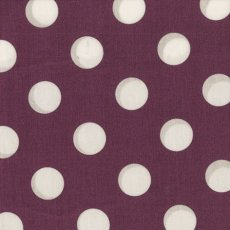 Kokka Polka Large Aubergine Remnant  Please Click the image for more information.