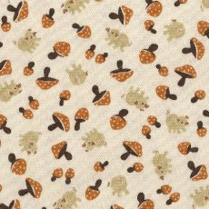 Pigs & Mushrooms Beige & Brown Adorable Japanese fabric featuring sweet little pigs and mushroomsFabulous medium weight fabric that would suit childrens wall art apparel and home decorating projects. Please Click the image for more information.