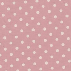Sevenberry Medium Dot White on Soft Pink