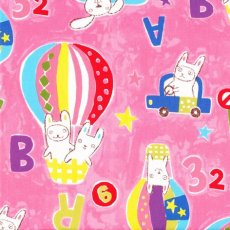Bunny Play ABC Pink This lovely medium weight fabric with Bunnies at play in hot air balloons and buses along with floating letters and numbers would be perfect for nursery or bedroom decor. Please Click the image for more information.