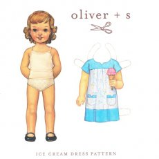 oliver + s Ice Cream Dress 5 - 12 years The Oliver  S loosefitting pullon smock dress or blouse has a onepiece Vnotch yoke and button loop closure Thre. Please Click the image for more information.