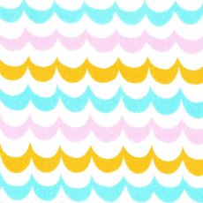 Alexander Henry Caitlin Stripe Orange, Aqua, Pink