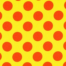 Candy Party Orange Polka on Yellow