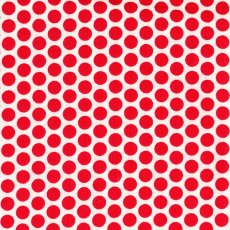 Honeycomb Red Spot on White
