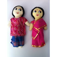 Bor Bow Doll Set These dolls are sold as a setThe woman is wearing the traditional sari  with pretty gold trim and the man is wearing the lungi with shirtThe d. Please Click the image for more information.