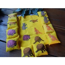 Australian Animals Memory Game Ten little cotton cushions with five pairs of appliqud Australian animals are neatly presented in a yellow cotton appliqud drawstring bag Ide. Please Click the image for more information.