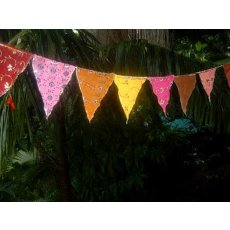 Sari Bunting Buntings add a colourful splash of colour to fill any space indoors or outdoors The flags on the double sided bunting are made from recycled embroidered and sequined sari material . Please Click the image for more information.
