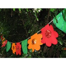 Flowers & Leaves Bunting Buntings add a colourful splash of colour to fill any space indoors or outdoors The brilliant orange red and green floral and leaf designs will add a magic touch to any space T. Please Click the image for more information.