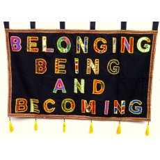 Belonging Being & Becoming - Wall Hanging Exclusive to Go Fair TradingThis exquisite hand made wall hanging is made lovingly from reclaimed materials such as saris  shawels by the ladies at the Fair Trade Organization Artisans Effort Kolkata IndiaNo two ar. Please Click the image for more information.