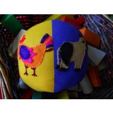 Farm Animal Ball A colourful hand appliqued and embroidered soft filled ball Farmyard characters adorn this ball  Perfect for a game of catch or naming colours and animals T. Please Click the image for more information.