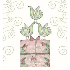 Xmas Pink Prez Green Birds clearance  Please Click the image for more information.