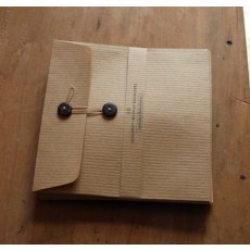 Lge Kraft button envelopes 130mm sq handmade envelopes ribbed Kraft paper Please Click the image for more information.