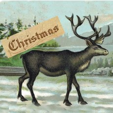 Xmas Lg Vintage Reindeer  Please Click the image for more information.