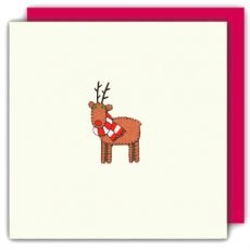 Embroidery Reindeer Gorgeous finely embroidered handmade card Now on a creambased card Please Click the image for more information.