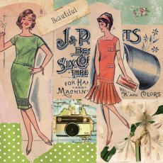Vintage 1950's Ladies 'Beautiful' Gorgeous ladies frolic in their frocks in this retro style Please Click the image for more information.