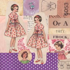 Vintage 1950's Ladies 'Or a party frock' Gorgeous ladies frolic in their frocks in this retro style Please Click the image for more information.