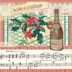 Retro Xmas - Champagne! (85mm sq)  Please Click the image for more information.